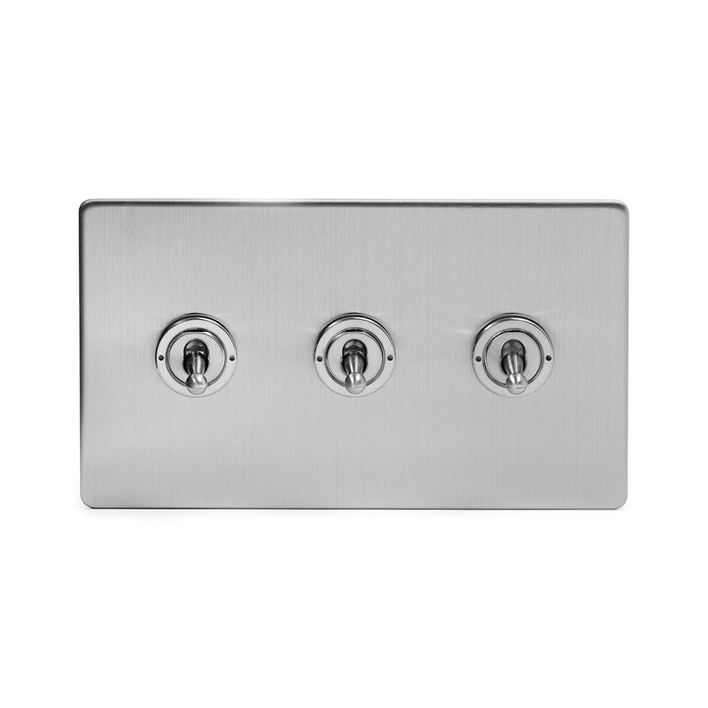 3 Gang Toggle Light Switches