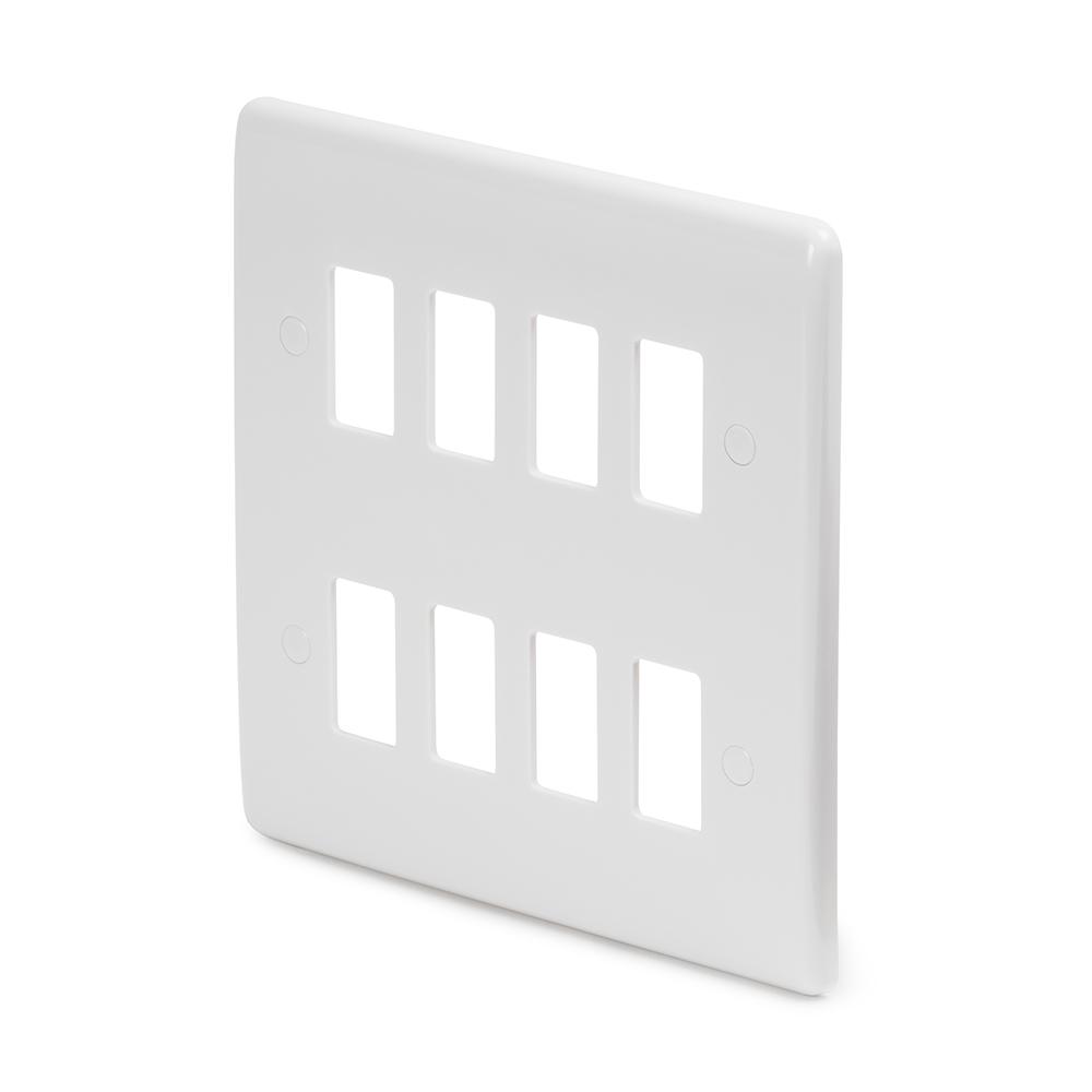 White Plastic Grid Plates