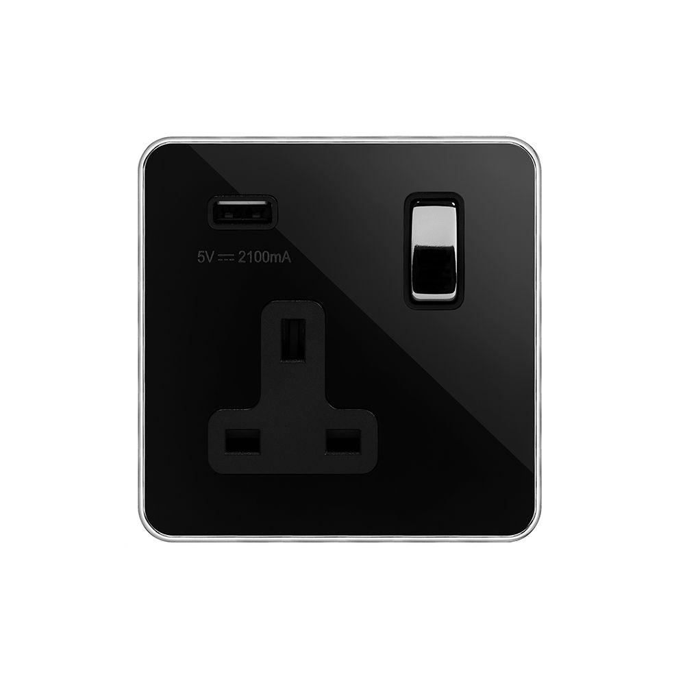 Soho Fusion Black Nickel & Polished Chrome