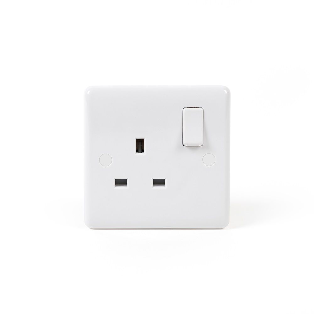 White Plastic Sockets and Switches