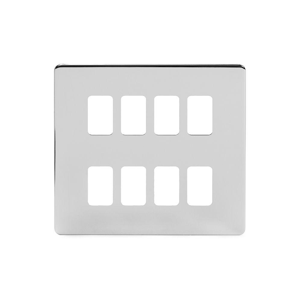 Polished Chrome Grid Plates