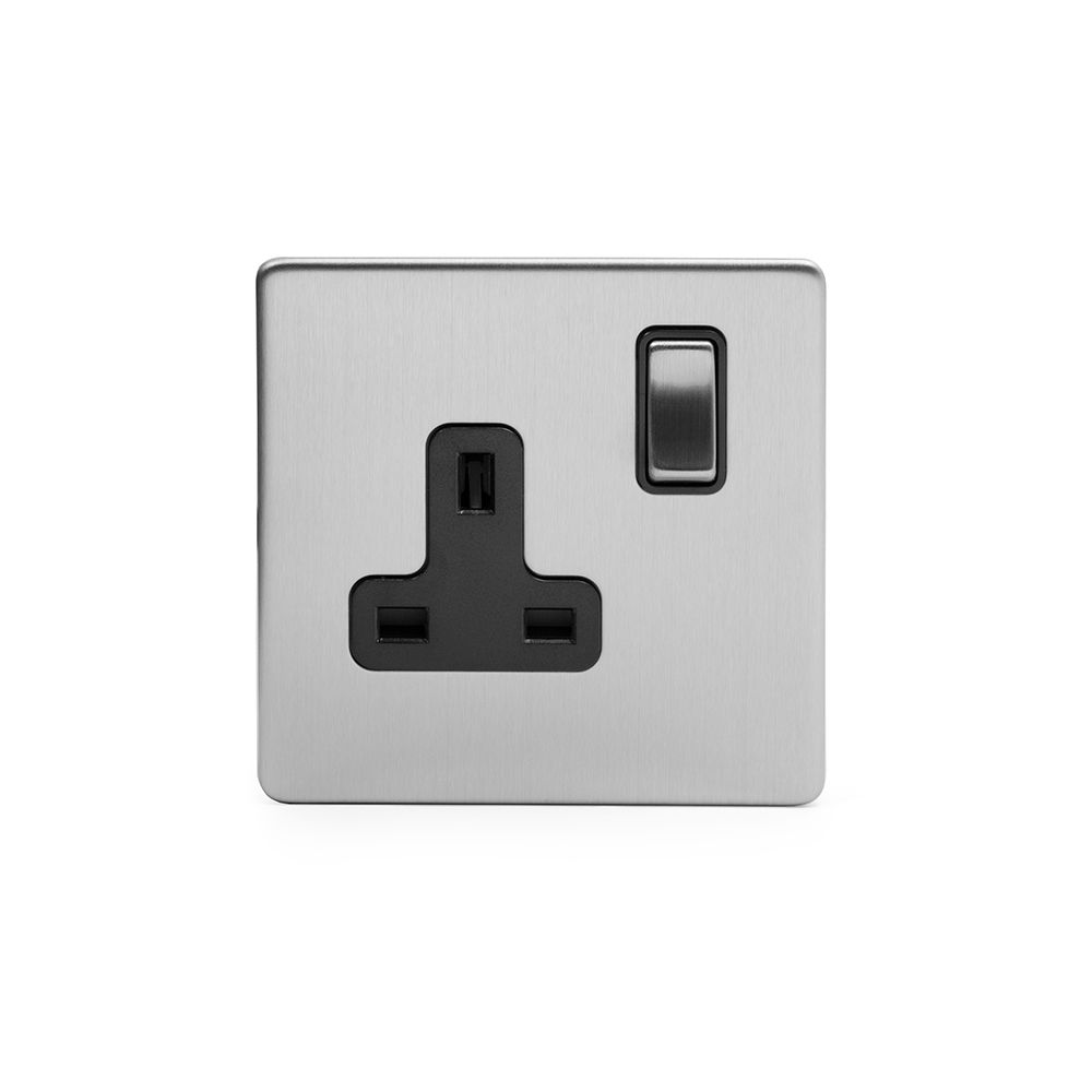 Soho Premium Traditional Plate Brushed Chrome & Black Insert