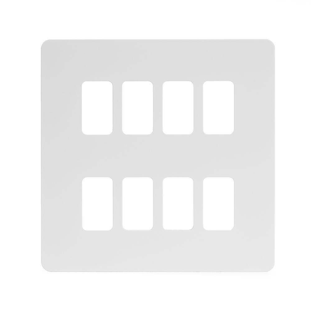 White Metal Grid Plates