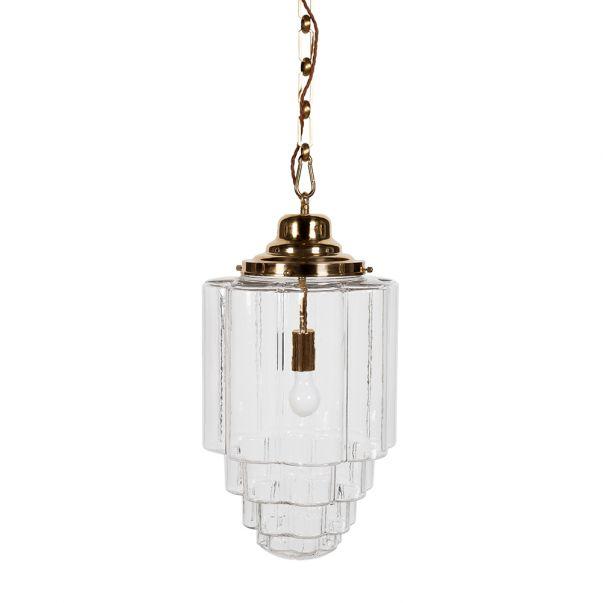 Glass Vintage Pendant Light