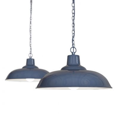 Portland Reclaimed Style Industrial Pendant Light Leaden Grey