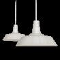 Clay White Cream Large Industrial Dining Room Pendant Light - Large Argyll - Soho Lighting