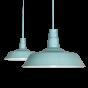Duck Egg Blue Turquoise Industrial Breakfast Bar Pendant Light - Argyll - Soho Lighting