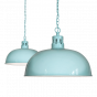 Duck Egg Blue Turquoise Rustic Dome Dining Room Pendant Light - Berwick - Soho Lighting