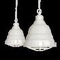 Clay White Cream Vintage Cage Landing Pendant Light - Ganton - Soho Lighting
