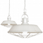 Clay White Cream Cage Industrial Kitchen Island Pendant Light - Brewer Cage - Soho Lighting