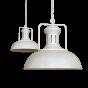 Clay White Cream Vintage Kitchen Island Pendant Light - Regent - Soho Lighting