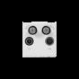 Soho EuroMod SAT1/SAT2/TV/Radio - White