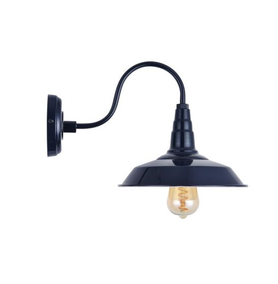 Navy Blue Industrial Wall Light