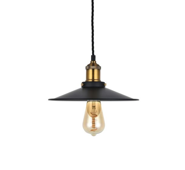 Denman Flat Vintage Industrial Edison  Pendant - Soho Lighting