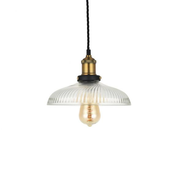Romilly Dome Etched Glass French Style Bedroom Pendant Light - Soho Lighting