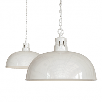 Berwick Rustic Dome Pendant Light Clay White