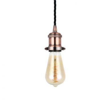 Red Copper Bulb Holder