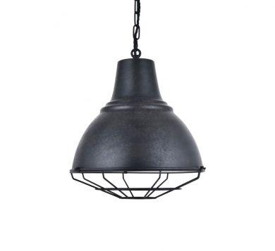 Compton Black Coffee Caged Bell Pendant Light