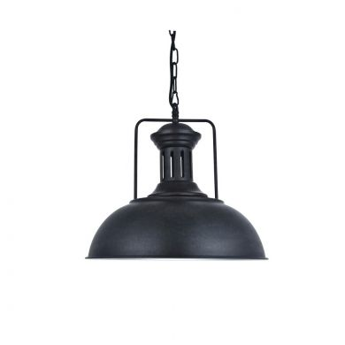 Regent Coffee Black Dome Pendant