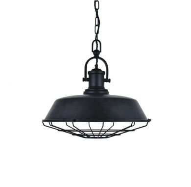 Brewer Caged Coffee Black Step Pendant