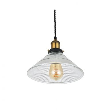 Romilly Tapered Etched Glass French Style Pendant Light