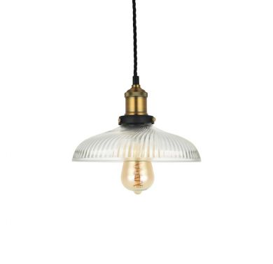 Romilly Dome Etched Glass French Style Pendant Light