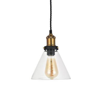Romilly Tapered Clear Glass Pendant Light