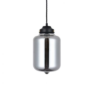 Goslett Smoked Blown Glass Jar Pendant Light