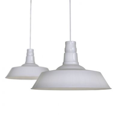 Large Argyll Industrial Pendant Light Pale Grey