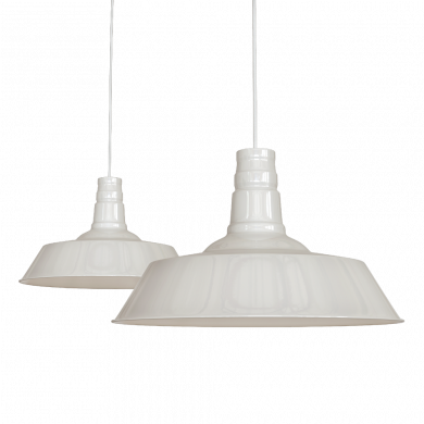 Large Argyll Industrial Pendant Light Clay White
