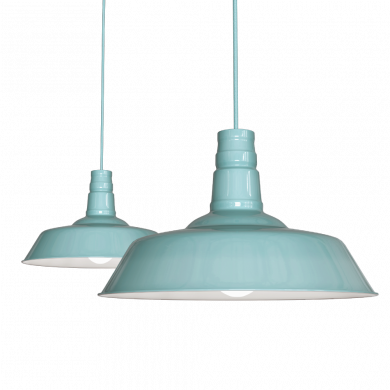 Argyll Industrial Pendant Light Duck Egg Blue