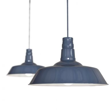 Argyll Industrial Pendant Light Leaden Grey