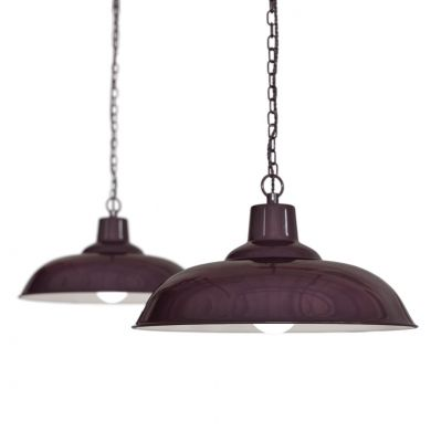 burgundy pendant light