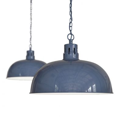 Berwick Rustic Dome Pendant Light Leaden Grey