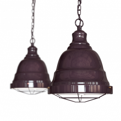 Ganton Vintage Cage Pendant Light Mulberry Red