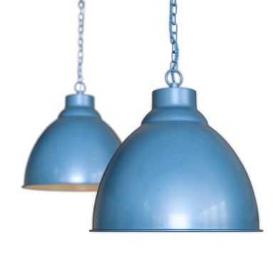 Blue Vintage Hallway Pendant Light