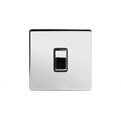 Polished Chrome 1 Gang 20 Amp Switch with Black Insert