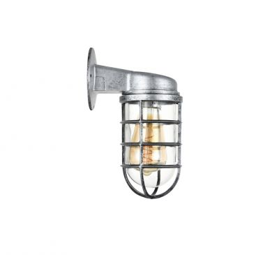 Broadwick Aluminium Finish Indoor Nautical Bulkhead Wall Light