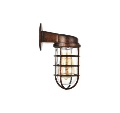 Broadwick Black Brushed Gold Indoor Nautical Bulkhead Wall Light