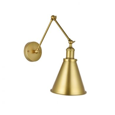 Tenison Antique Gold Hinged Wall Lights