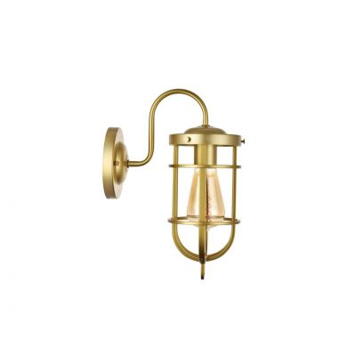 Richmond Elegant Gold Bulkhead Wall Light