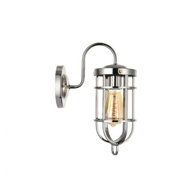 Richmond Elegant Shiny Nickel Bulkhead Wall Light