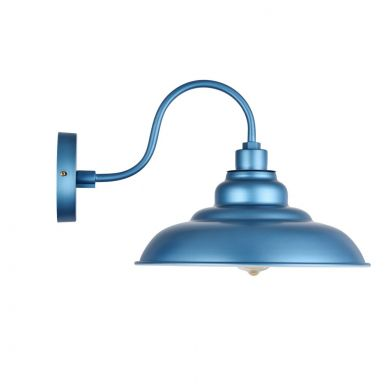 Portland Reclaimed Style Wall Light Aston Blue