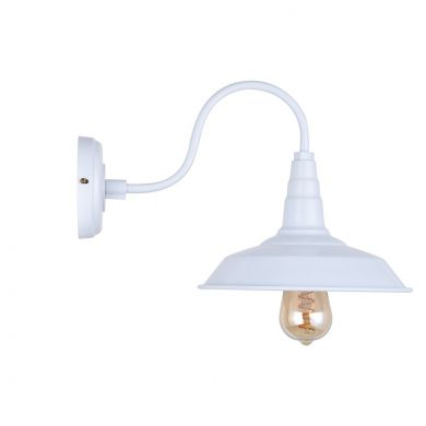 White Industrial Wall Light