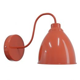 Burnt Orange Wall Light - Oxford Vintage - Soho Lighting