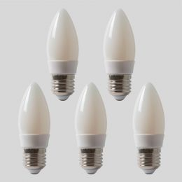 4w B22 4100K Opal Dimmable with white plastic