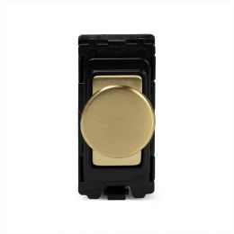 Soho Lighting Brushed Brass 400W (150W LED) 2 Way Intelligent Trailing Edge Dimmer - Grid Module