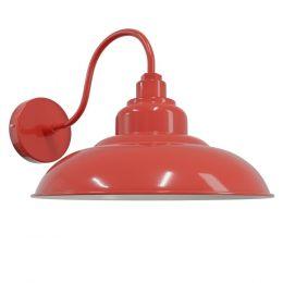 Red Reclaimed Style Wall Light - Portland - Soho Lighting