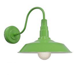 Lime Green Industrial Wall Light - Argyll - Soho Lighting