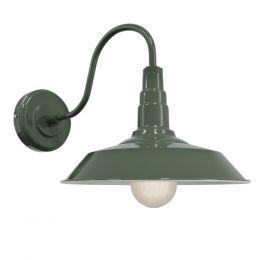 Olive Green Industrial Wall Light - Argyll - Soho Lighting